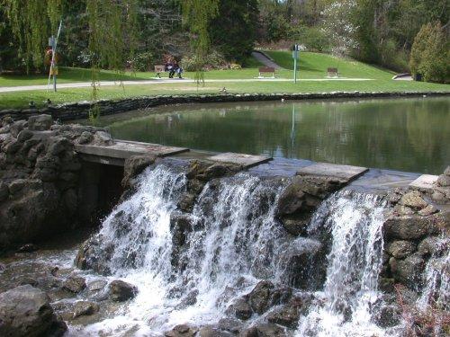 Dam and waterfalls, Munnar