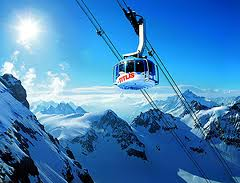 Mt. Titlis with Ice Flyer